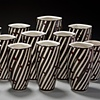 """Black Pattern Vase"" Grouping"
