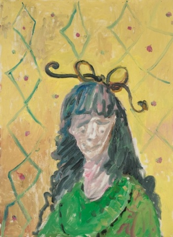 George Condo Girl with Bow Tie