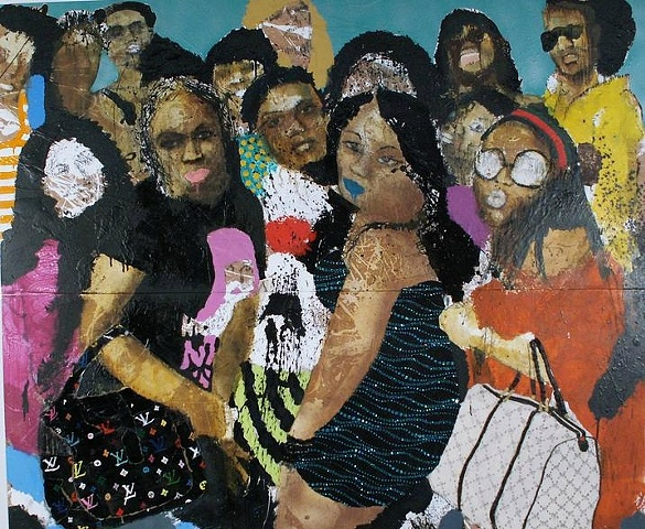 Aaron Fowler Untitled / Ladies Group Paintings Series