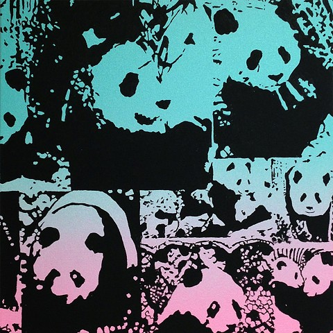Rob Pruitt World of Pandas  (Mint to Rose)
