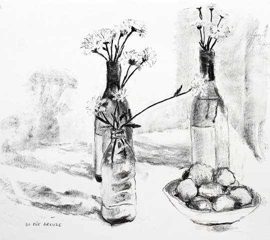 Paris, 2010, Still Life 3, charcoal