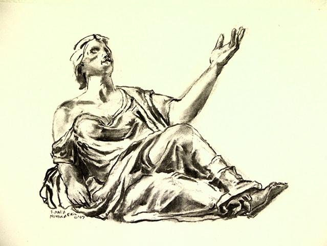 Florence, Italy: Figure from    Santa Maria Novella