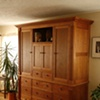 Traditional Cherry Armoire built-in