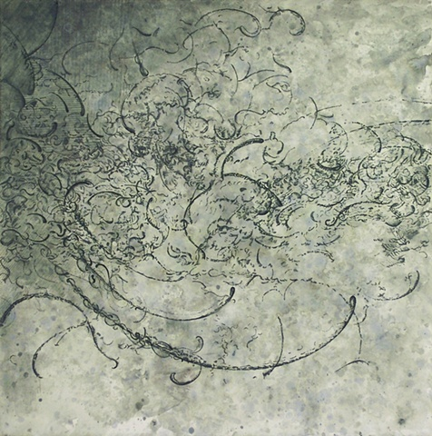 Deluge drawing Paul Flippen water abstraction