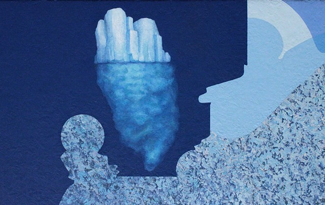 Equilibrium - detail of iceberg