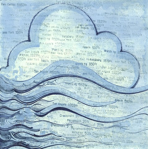 In The Wind drawing Paul Flippen cloud air abstraction