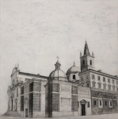 Santa Maria del Popolo Paul Flippen drawing