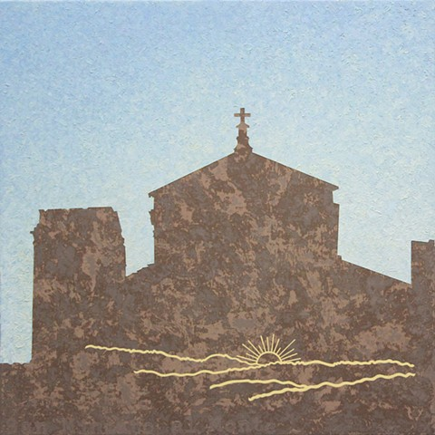 San Miniato al Monte painting Paul Flippen Florence Italy Abstraction Sunrise