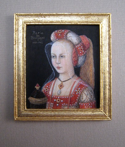 miniature egg tempera portrait Mary of Burgundy