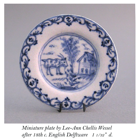 English Delftware Goat Plate