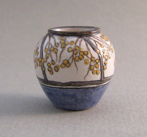 handcrafted miniature ceramic vase by LeeAnn Chellis Wessel