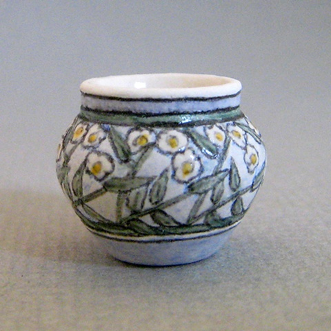 miniature reproduction of Arts and Crafts Newcomb Pottery vase by LeeAnn Chellis Wessel