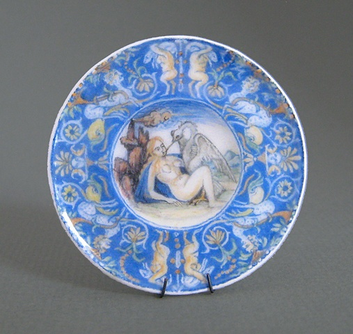 handcrafted miniature plate by LeeAnn Chellis Wessel