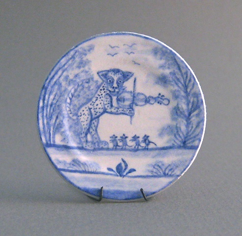 handcrafted miniature ceramic plate