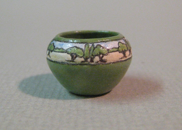 miniature pottery vase Saturday Evening Girls by LeeAnn Chellis Wessel