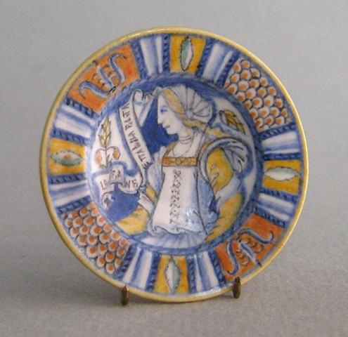 handmade miniature Italian Renaissance Plate