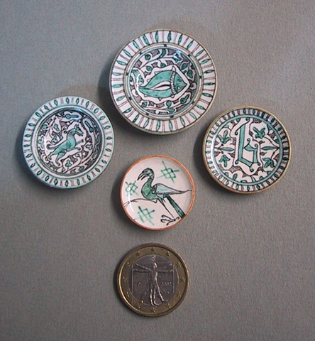 miniature pottery plates by LeeAnn Chellis Wessel