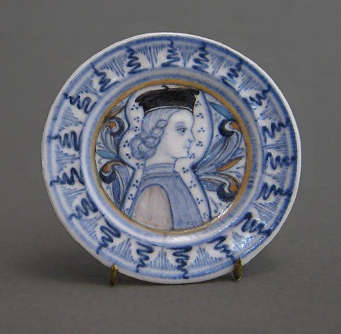 handcrafted miniature ceramic plate by LeeAnn Chellis Wessel