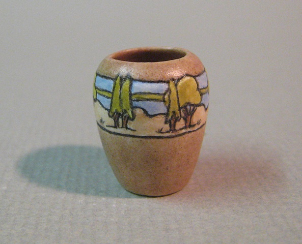 miniature reproduction of Arts and Crafts pottery vase Saturday Evening Girls by LeeAnn Chellis Wessel