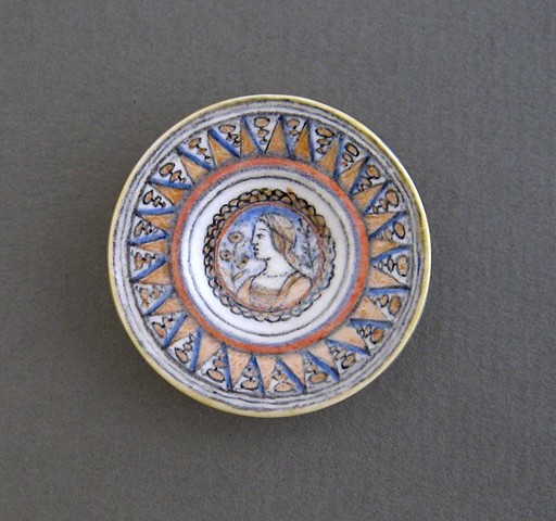 handmade miniature ceramic plate replica of antique