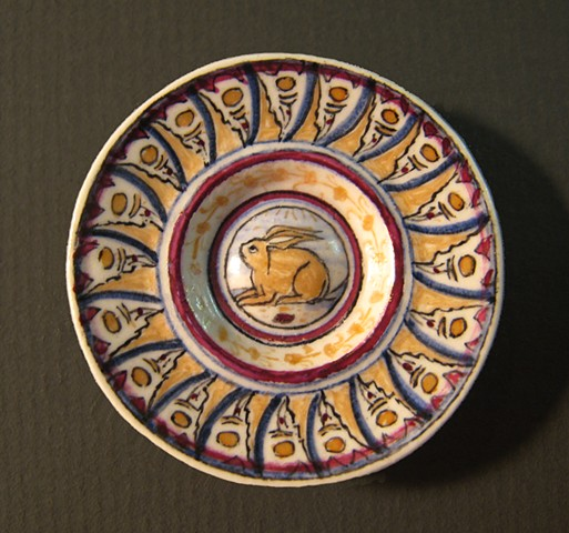 miniature ceramic replica of Italian Renaissance plate