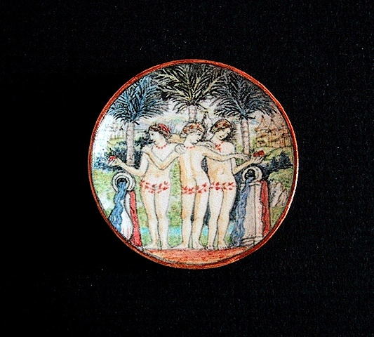 1/12 scale miniature reproduction of Deruta maiolica Plate by LeeAnn Chellis Wessel