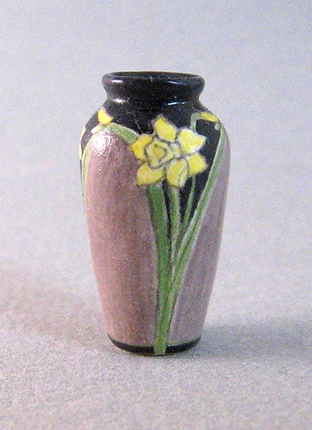 miniature reproduction of Arts & Crafts Rookwood Pottery vase by LeeAnn Chellis Wessel