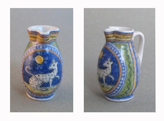 handmade miniature ceramic jug