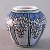 Newcomb style Wisteria vase