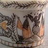 Scrimshaw with Creamware Plate