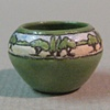 SEG Low Green Vase with Trees