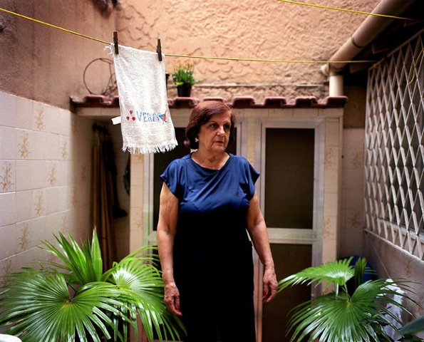 Tia Vera and her kitchen towel, Tijuca, Rio de Janeiro; 2007