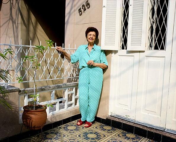 Tia Aluylde in front of Tia Vera's house, Tijuca, Rio de Janeiro; 2007