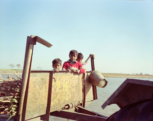 Kids; Village outside of Dhampur, Uttar Pradesh