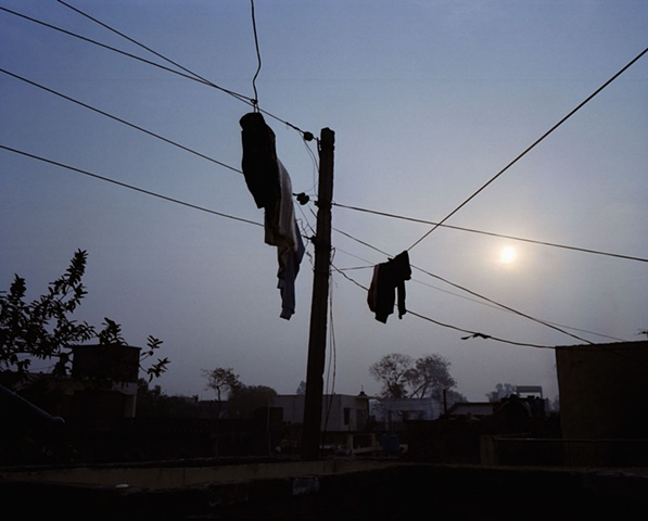 Clothesline; Bhojpur, Uttar Pradesh