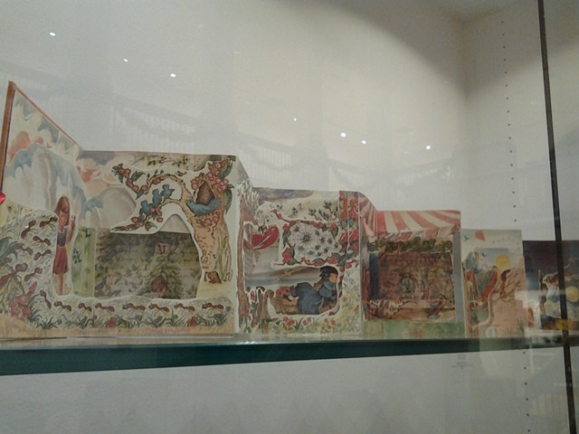 O Mundo da Criança deconstructed, 2014 (detail) Handmade carousel book  (collage, ribbon, paper, cardboard)