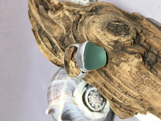 Size 10 Seafoam Green Ring