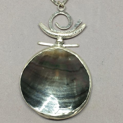 Mother of Pearl/fine silver