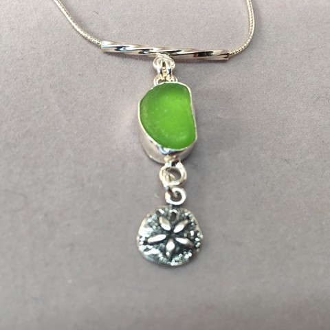 Lime green seaglass