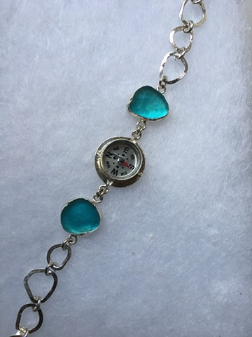 follow your heart compass bracelet
