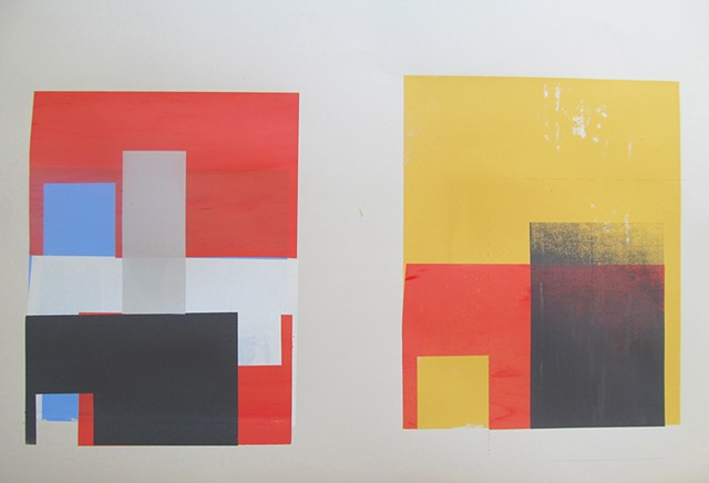 color and form screenprints