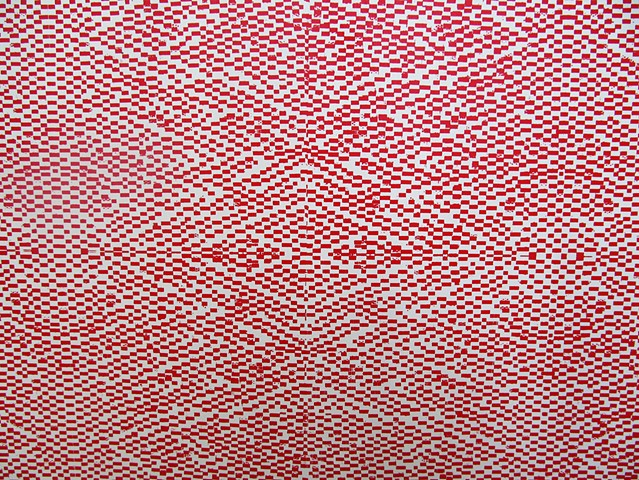 detail of red pattern