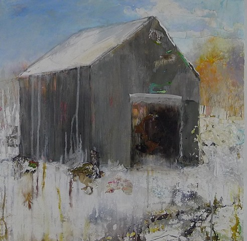 winter new england barn white grey snow landscape winterscape snowscape