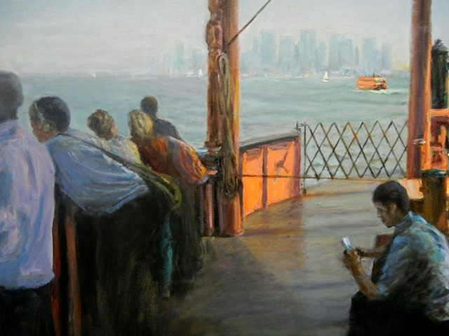 Staten Island Ferry, NYC, Morning Commute, Burl Dawson