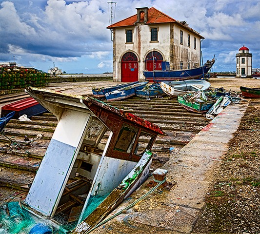 Wreckage at Viana do Costelo  July 2012