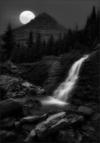 Moonlit Waterfall  Feb 2015