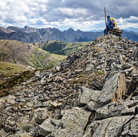 Jasper Boundary Marker at Summit