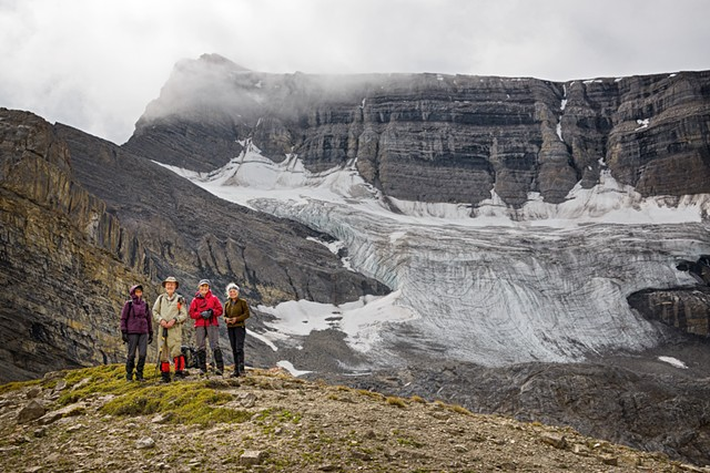 Part of the Wilson Glacier from Goat Ridge  Aug 2019