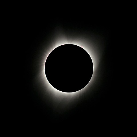 Total Eclipse Showing Prominences and Flares  Aug 2017