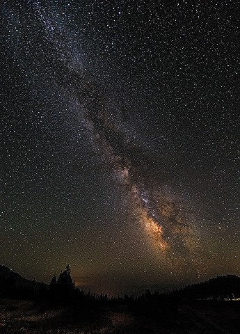 Smoky Milky Way from the Hotel  Aug 2017
